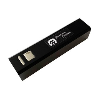Professor Optiken USB-Powerbank, 2.200 mAh - Schwarz